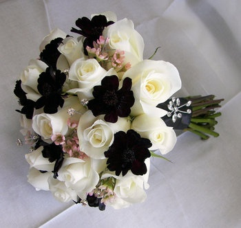 Wedding, Flowers, Pink, Bouquet, Brown, Roses, Ivory, Chocolate