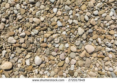 Stone pattern formed by the pebble