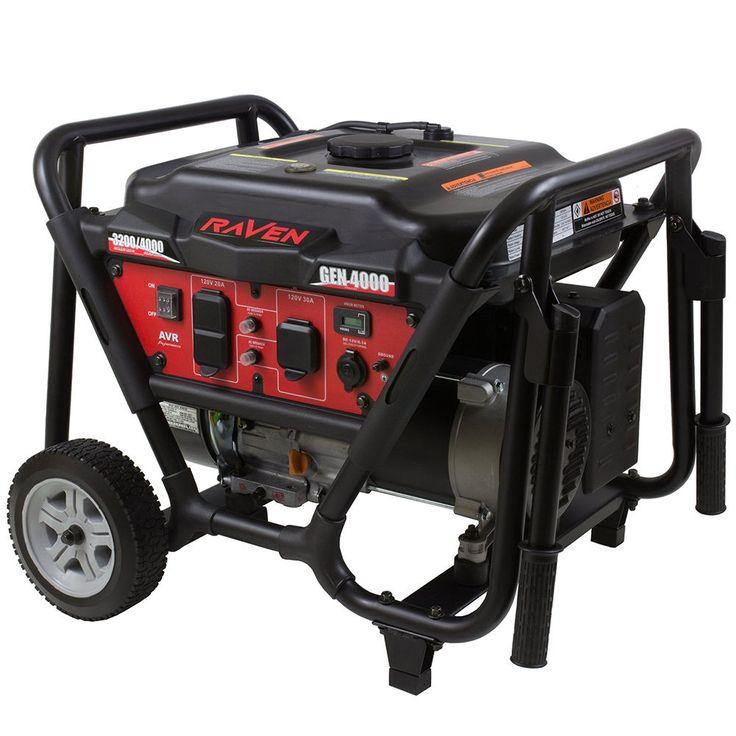 Raven GEN4000 4,000 Watt Gas Powered Portable Power Generator #RAVEN