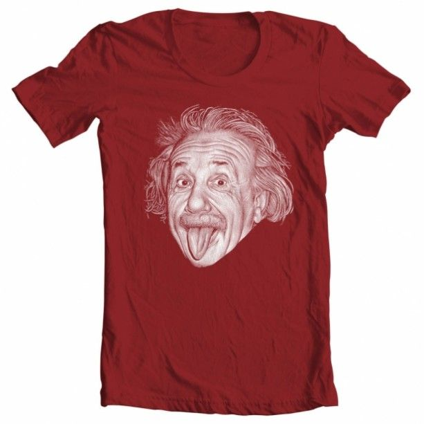 Git for him - Men's Albert Einstein Tee. Celebrate the genius Albert Einstein with this fun graphic tee. Screenprinted, handmade and made in America. A perfect gift for him for the holidays. $19.95. http://aftcra.com/mixedtees/listing/1120/mens-albert-einstein-tee