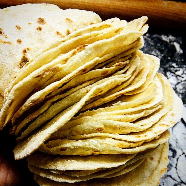 Homemade - Fresh Mexican Flour Tortillas....Fresh from the pan!