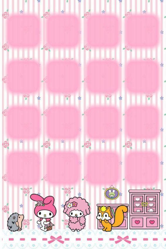 マイメロiphone棚壁紙 かわいい小花ローズ マイメロディiphone壁紙 Kitty Wallpaper Sanrio Wallpaper Kawaii Wallpaper