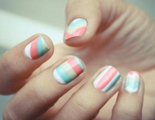 27 Best Color Block Nail Art Images On Pinterest Cute Nails Nail