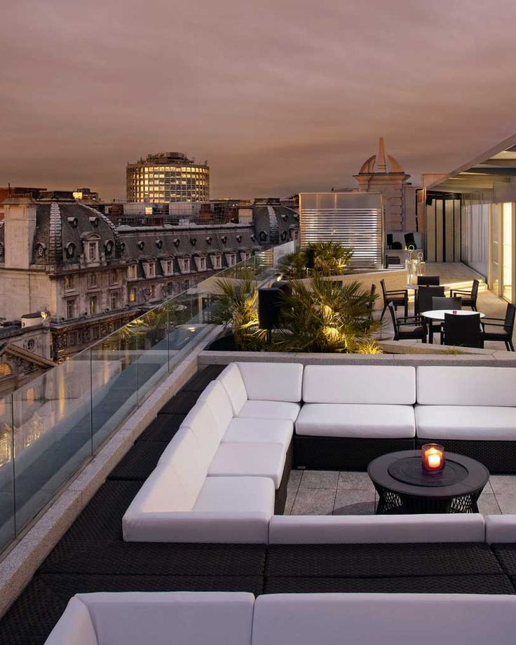 Take in the Thames and the glittering West End from the roof top bar. #London