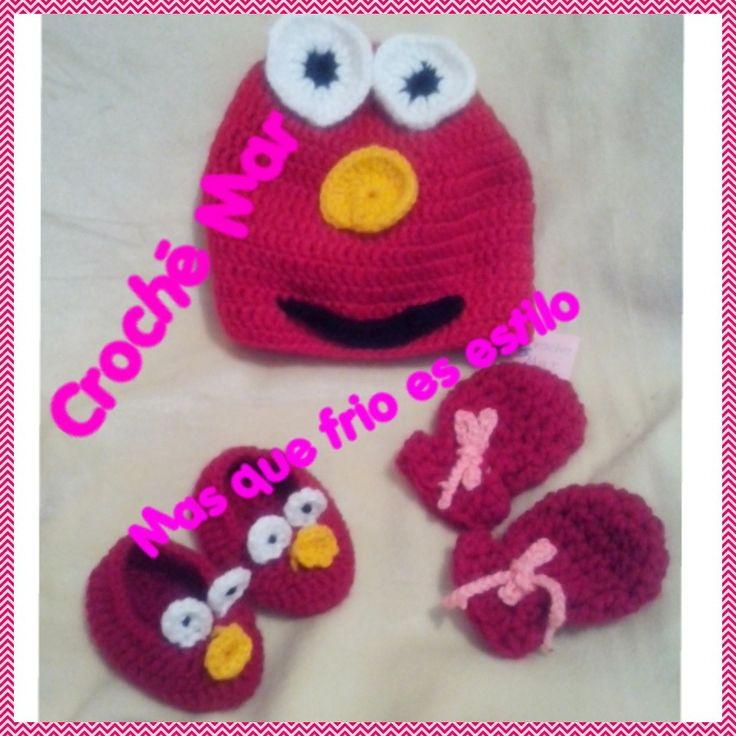 Conjunto de Elmo por Croche Mar