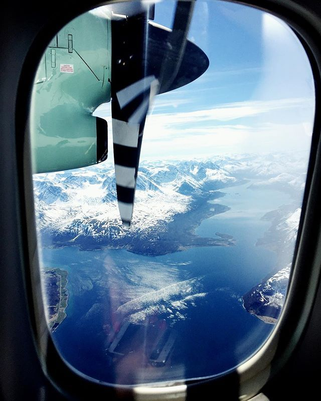 Northern Norway MUST haves: window seat for fjord sightseeing in Northern Norway;) taken on a regular flight over Lyngen Alps by @zhenjanord .