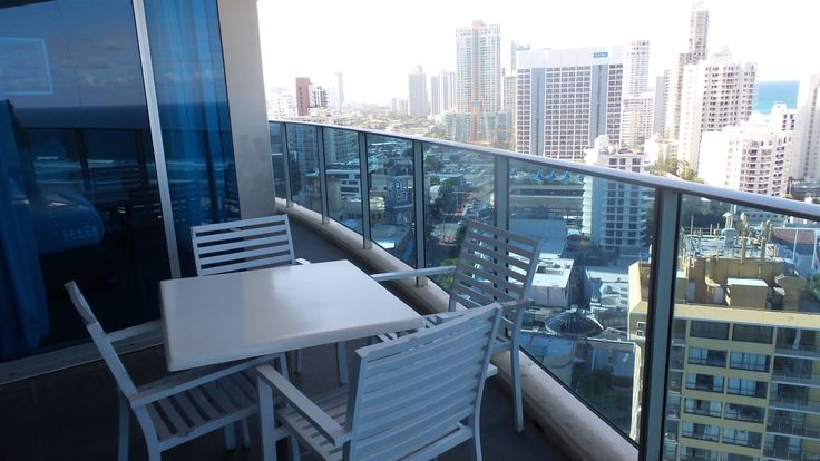 Balcony View at the Hilton Surfers Paradise Hotel and Residences on the Gold Coast in Queensland, Australia