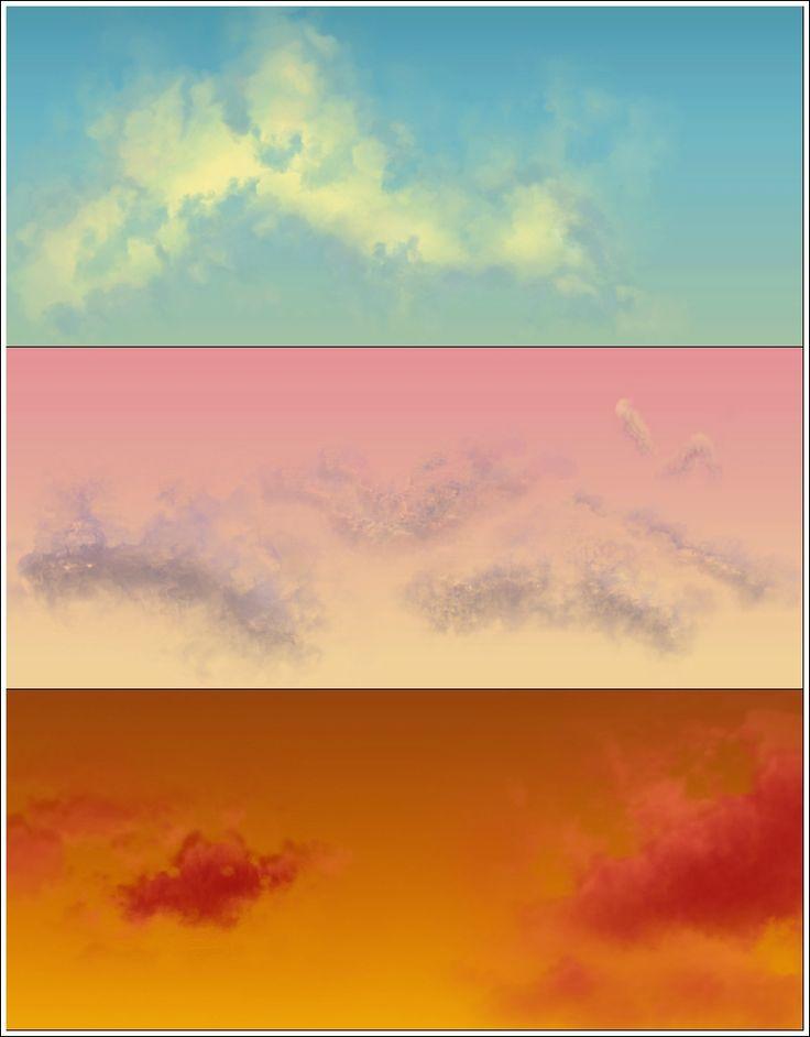 Основа рисования облаков   Рисование в Фотошопе
