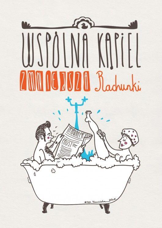 obrazy i inne - grafika-Kąpiel małżeńska- A3