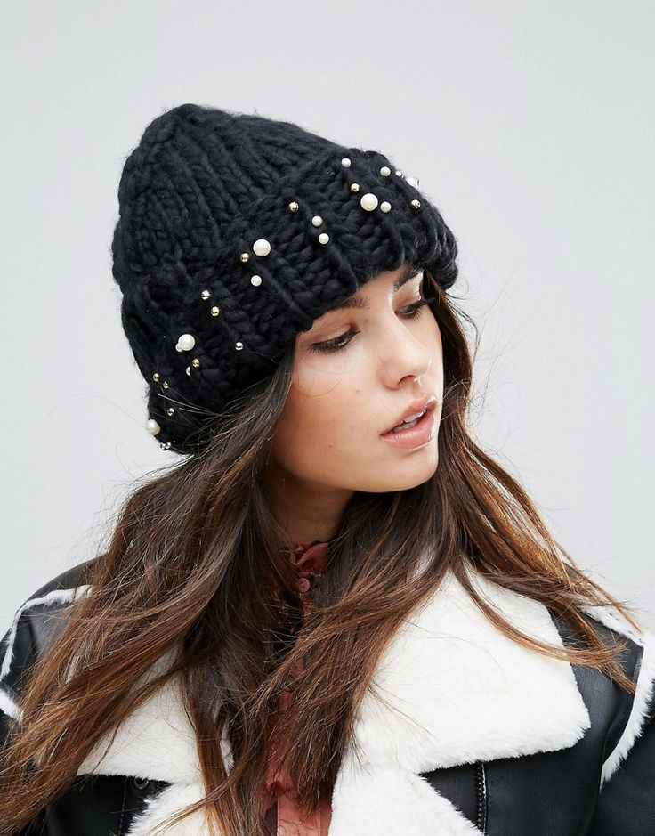 Soft Knitted Beanie Hat With Contrast Pom Pom - Black yellow Urban Code s2L7hSgeXV