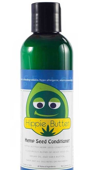 Hippie Butter Hemp Seed Oil Conditioner is a luxurious, botanical conditioner infused with Hemp Seed Oil, Argan, Aloe and Rosemary oils to replenish and maximize your hair's moisture  and color retention. Our Hemp Seed Oil Conditioner's perfectly-blended  botanical elements smooth your hair to detangle and provide shine and control. FREE SHIPPING