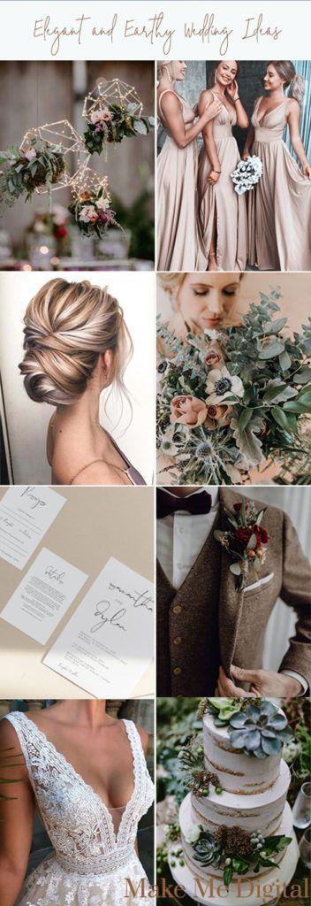Blush, golden, natural, earthy toned wedding inspiration by Make Me Digital