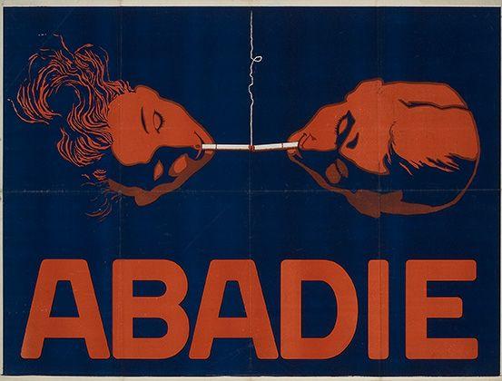 Abadie Zigarettenpapier Zigarettenhülsen Abadie Papiergesellschaft, Wien. Anonymer Entwurf, Österreich ca. 1920.