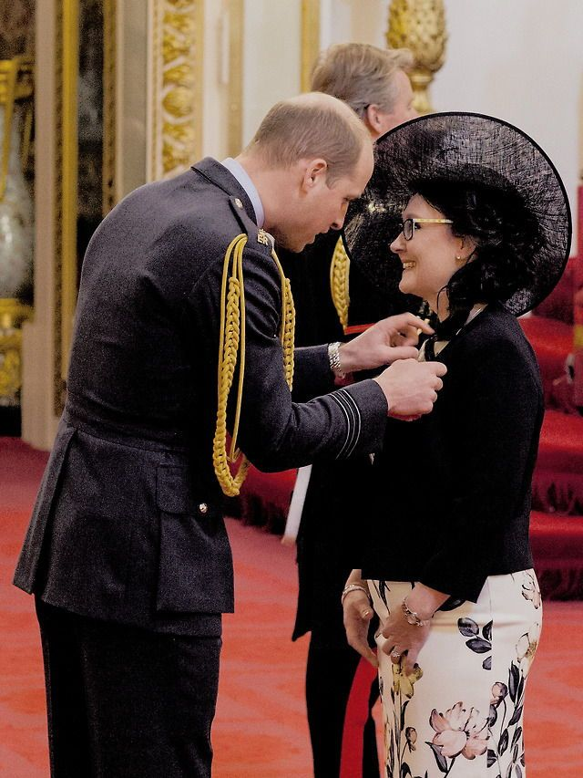 The Duke of Cambridge awards Sara Fitzsimmons an MBE, for her work with SiMBA Team, a charity that supports bereaved families    6 March 2018 In the last 10 years, SiMBA has supplied over 9,000 Memory Boxes, created 8 support groups in Scotland & developed a return to work program.