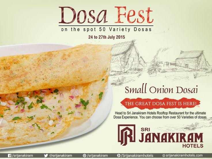 Crispy and tasty Small #OnionDosa   Explore more at #Srijanakiram_Hotels   Enjoy #50_DOSA_VARIETIES #Rooftop Restaurant from 24th to 27th July.  #DosaFestival #DosaMela #DosaFest #FoodFestival