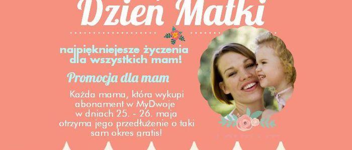#mama #dzieńmamy #dzieńmatki #samotność #prezent #gratis #bonus #promocja #dziecko #życzenia #matka #kobieta Wykup abonament, odbierz taki sam gratis! Każdej Mamie, która w dniach 25.-26. wykupi dowolny abonament w MyDwoje przedłużymy go ten sam okres gratis! https://www.mydwoje.pl/News/Promocja-z-okazji-Dnia-Kobiet
