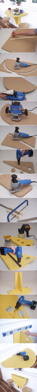 DIY Balcony Folding Table