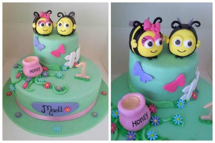how to make a buzz bee cake