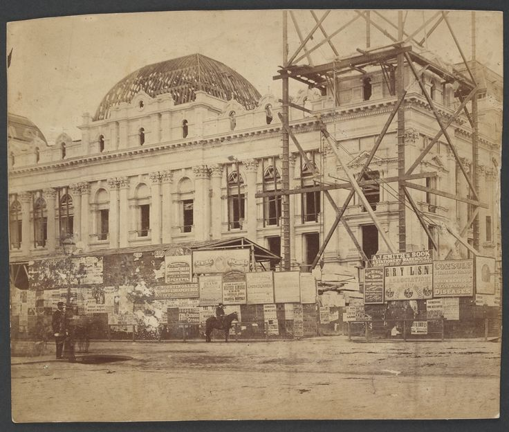 Melbourne Town Hall Design and construction 1869