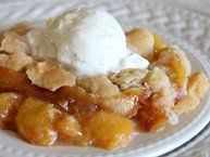 Peach Cobbler Recipe - with Bisquick -- I like quick and simple.  Use any fruit you like.