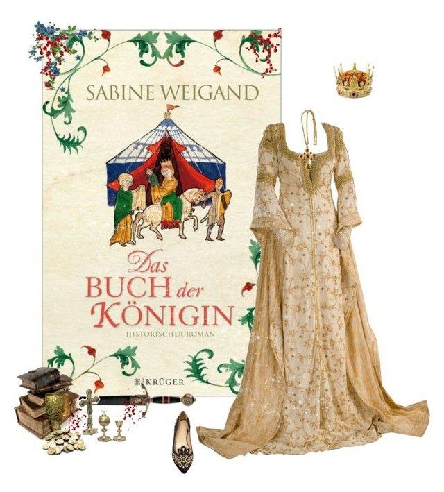 """Das Buch der Königin - Sabine Weigand"" by greerflower ❤ liked on Polyvore featuring Charlotte Olympia"