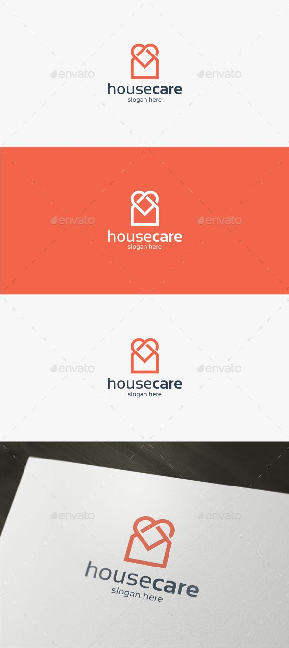 House Care  Logo Template #vector #eps #real estate #house • Available here → https://graphicriver.net/item/house-care-logo-template/12324953?ref=pxcr
