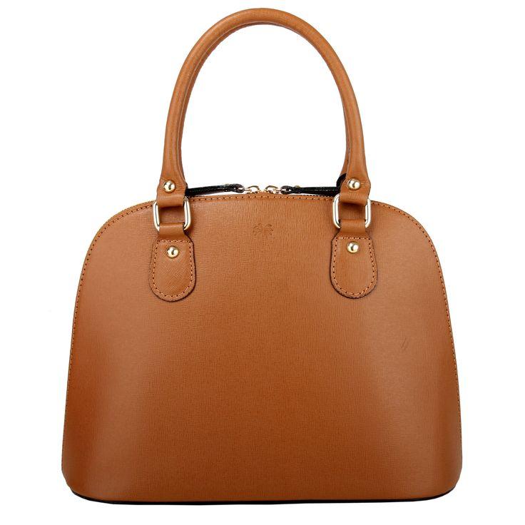Marlafiji Carmen Cognac Saffiano leather handbag limited stock $275 plus free shipping within Australia  www.marlafiji.com
