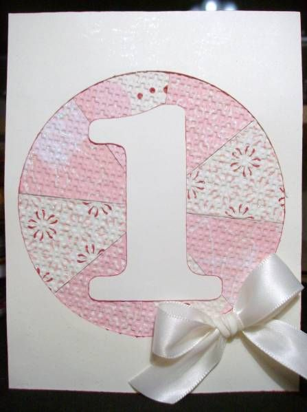 First Birthday Card by tammylee - Cards and Paper Crafts at Splitcoaststampers
