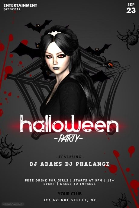 halloween party flyer template party flyer templates pinterest