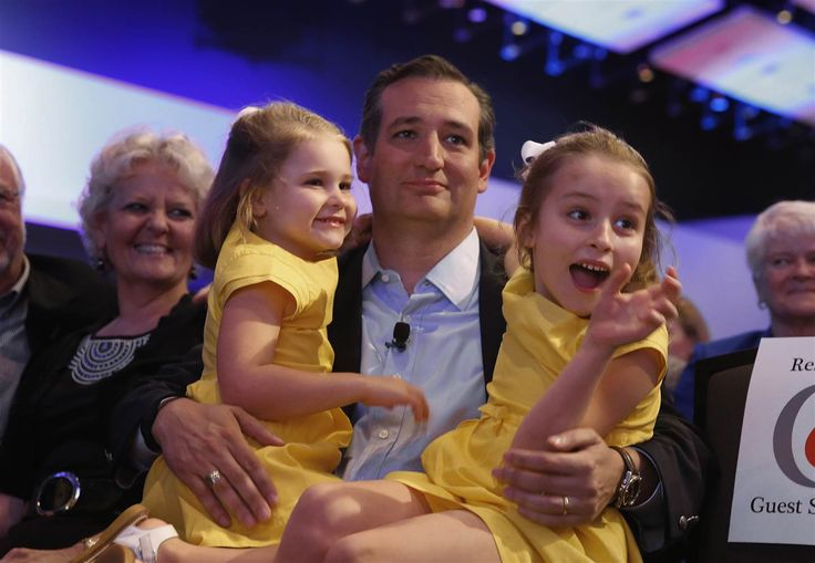 Image: Ted Cruz and daughters Catherine and Caroline