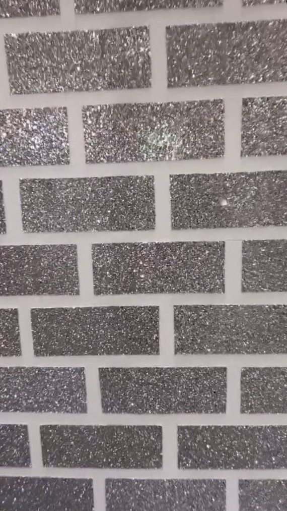 Glitter Brick Self Adhesive Wall Tiles