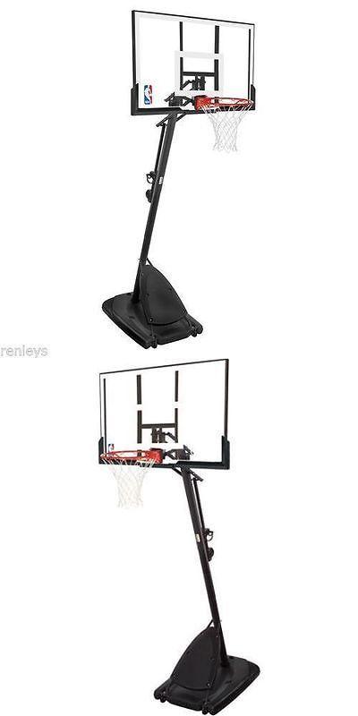 Backboard Systems 21196: Spalding 54 Portable Basketball System Adjustable Hoop Backboard Net Pole 66291 BUY IT NOW ONLY: $220.4