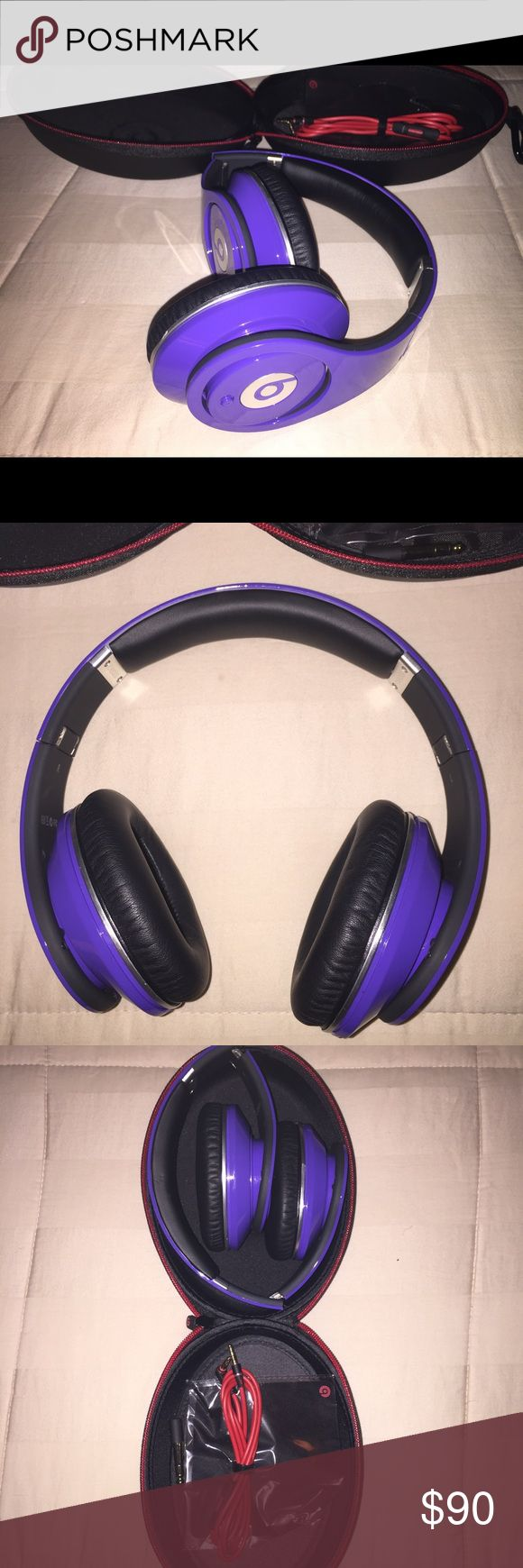BEATS headphones Mint* condition, used a few times before getting new headphones (No Box) only case, cloth and spare wire. Beats by Dr. Dre Other
