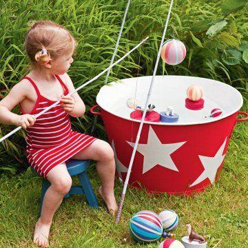 Un jeu de pêche à la ligne pour enfant // line fishing, game, kid, birthday