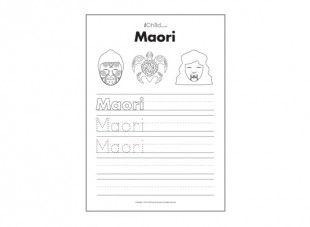 "Print this sheet and help children practice writing the word, ""Maori"", improving both world understanding and handwriting skills!"