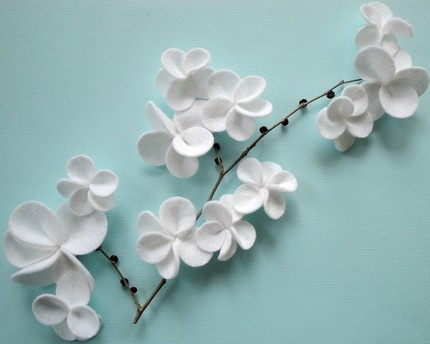 Wall decor felt flowers