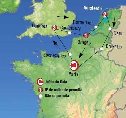 Oferta de viagem a Franca. Entra, informa-te e reserva com Circuito de 7 dias pelas Tr�s Capitais Paris Londres e Amsterd�o + Bruxelas