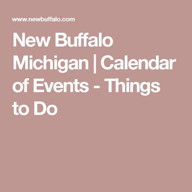 New Buffalo Michigan | Calendar of Events - Things to Do
