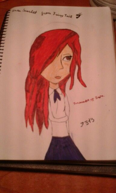 Erza Scarlett  from Fairy Tail  Draw: by me