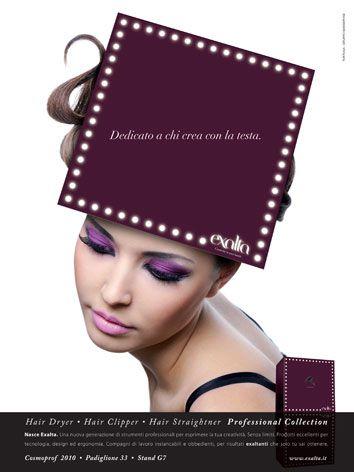 Campagna di lancio del nuovo brand Exalta - Cosmoprof 2011