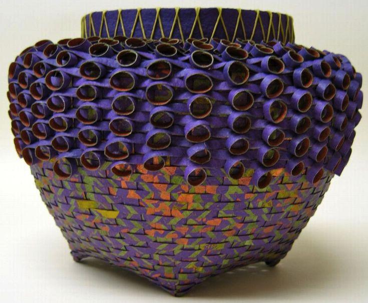 Basket Weaving Essay : The best images about paper vases bowls on