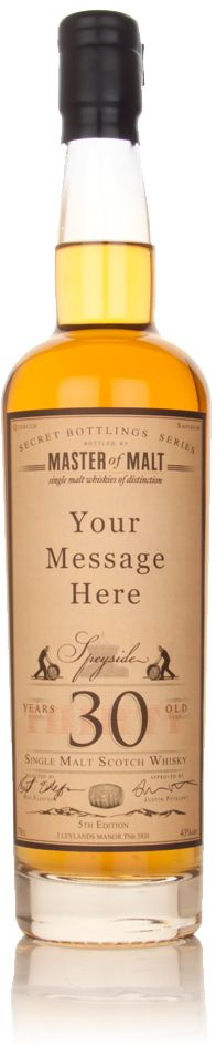 A really nice gift idea. Personalised Whisky label on several choices of fine single malts.