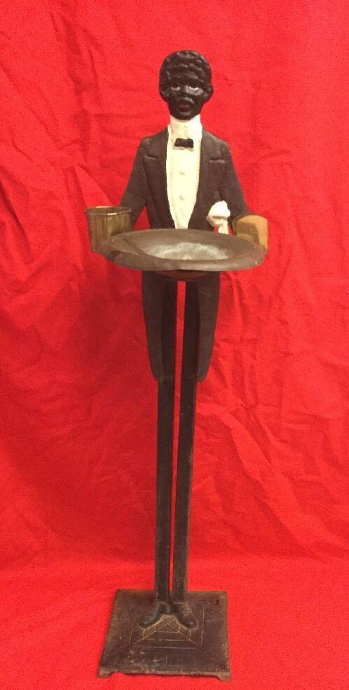 Rare Vintage Black Americana Cast Iron Antique Butler