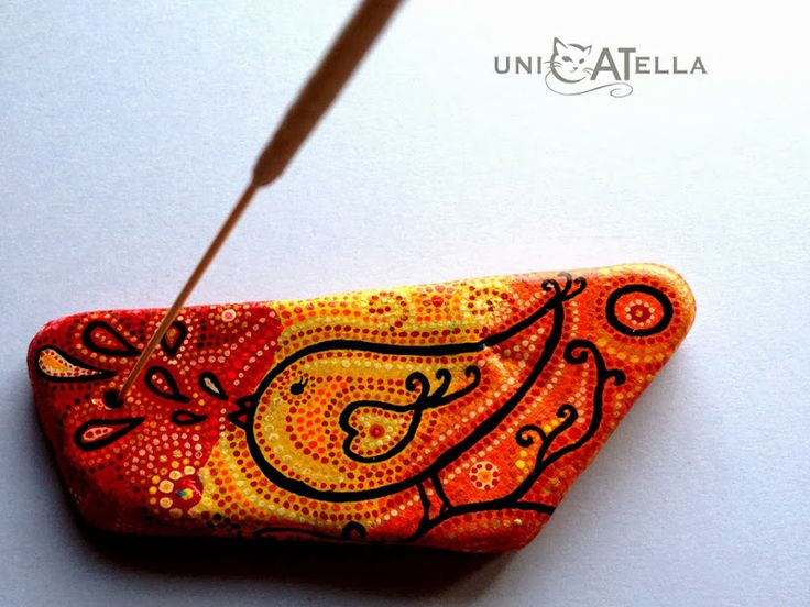 Anita Bujakowska Unicatella  Kamień ręcznie malowany techniką kropkową www.polandhandmade.pl #polandhandmade #paintedstone #aboriginalpainted