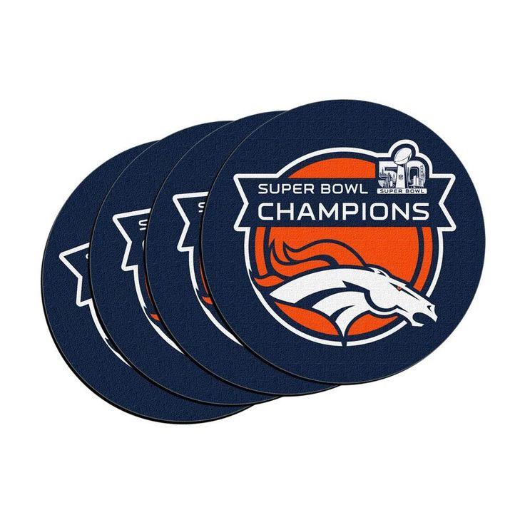 Denver Broncos - Super Bowl 50 Champions 4 Pack Car Coasters