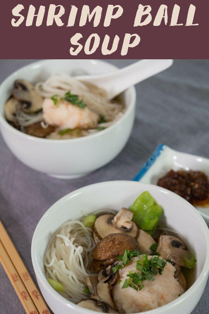 Shrimp Ball Soup with Homemade Stock