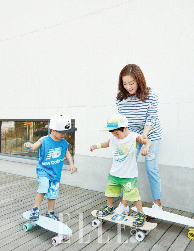 Seo Un, Seo Jun and Mom - Elle Magazine May Issue '16