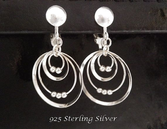 Clip On Earrings: Elegant and Fabulous 925 Sterling Silver Clip On Earrings @ https://www.etsy.com/shop/EarringsArtisan and https://www.etsy.com/shop/ClipOnEarringsShop #cliponearrings #sterlingsilvercliponearrings #clipearrings #clip #earrings #silverearrings #silvercliponearrings #clipon