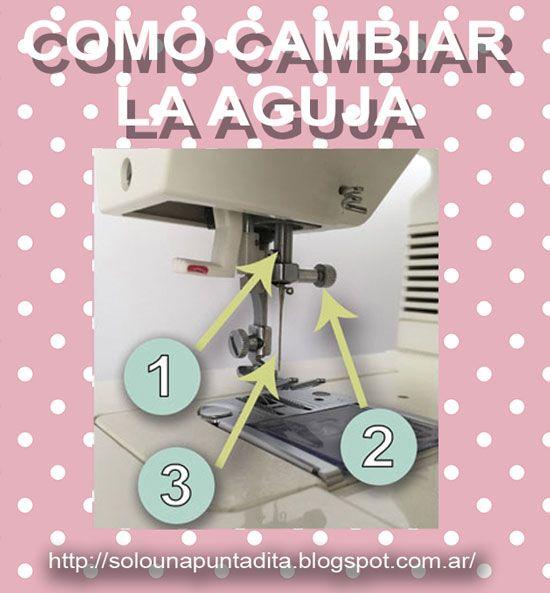 Sólo una puntadita...: Como colocar o cambiar la aguja de la máquina de coser