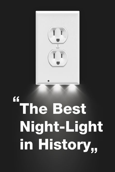 "The SnapPower Guidelight is ""The Best Night-Light in History"" - The Family Handyman Magazine Sleek modern design, costs only .10/year to operate and leaves both of your outlets free to use. No wiring or batteries needed! #HomeAppliancesTheFamilyHandyman"